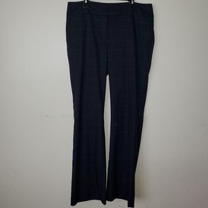 Ann Taylor Navy and White Striped Pant